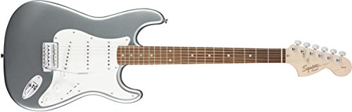 Squier by Fender Affinity Series Stratocaster Electric Guitar – Laurel Fingerboard – Slick Silver