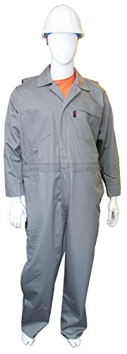 Chicago Protective Apparel 605-FRC-G-2XL FR Cotton Coverall, XX-Large, Grey