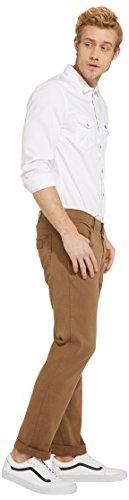 Beige Straight Khaki 8c Pantalon Greensboro Homme Wrangler leg safari RSzzFH