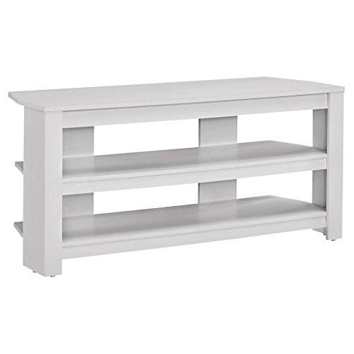 Monarch TV Stand, White, 42""