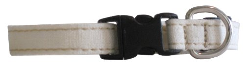 Hemp and Certified Organic Cotton Cat Collar Made in the USA Natural, My Pet Supplies