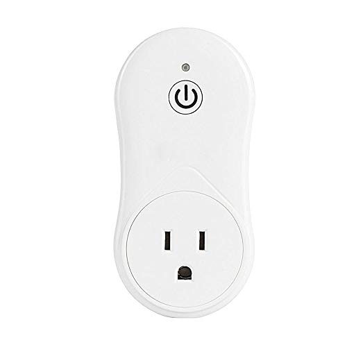 Smart Plug Wifi Outlet with USB Charging Port Compatible With Google Home and IFTTT, Mini Smart Socket with Timer Function, No Hub Required,White