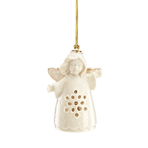 Lenox Angel Wishes Snowflake Bell Ornament ()