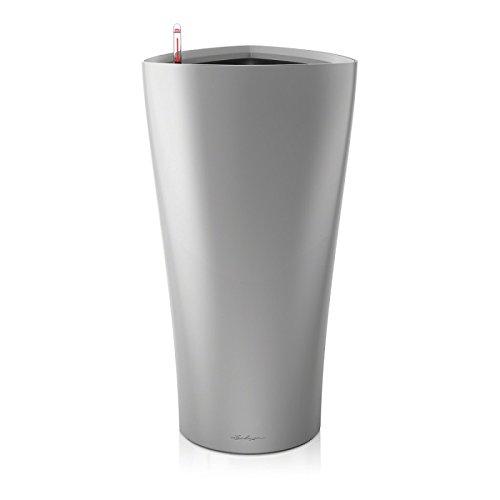 2 Stück Lechuza DELTA Premium 30 Komplettset - silber metallic