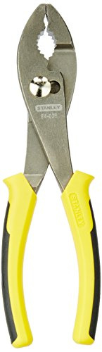 8in Slip Joint Pliers - Stanley 84-026 Bi-Material Slip Joint Pliers, 8-Inch