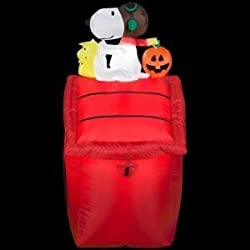 Gemmy Airblown Inflatable Snoopy as Red Barron and...