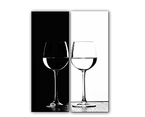 Amoy Art- 2 Panel Black White Cups Wall Art Oil Paintings Gi