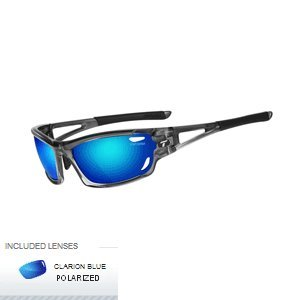 Tifosi Optics Dolomite 2.0 Polarized Sunglasses - Men's Crystal Smoke/Clarion Blue, One Size ()