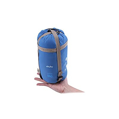"""Ohuhu 75""""x 34"""" Sleeping Bag with a Carrying Bag for Temperatures 48 F to 59 F"""