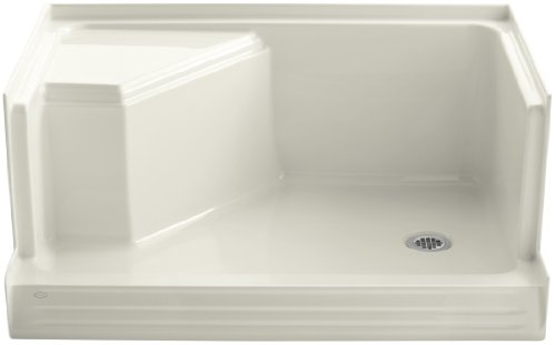 (KOHLER K-9488-96 Memoirs 48-Inch Shower Receptor, Biscuit)