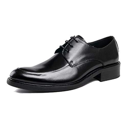 Scarpe Testa Tonda Pelle Lacci da Scarpe Scarpe Europea con da da Uomo A Black Versione in Lavoro Scarpe in Sposa Traspiranti Deodorante FaxwUBwp