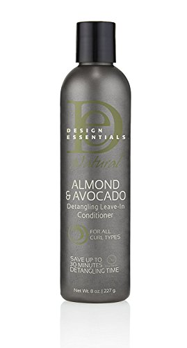 Design Essentials Natural Instant Detangling Leave-In Sulfate-Free Conditioner For Healthy, Moisturized, Luminous Frizz-Free Hair-Almond & Avocado Collection - 8oz