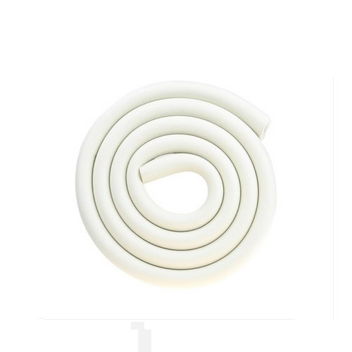 Price comparison product image AUCH U Shape Glass Table Edge Protectors Premium High Density Foam Baby Safety Bumper Guard 2 Meters (6.5 FT) with 4 Meters(13 Ft) Tape,  White