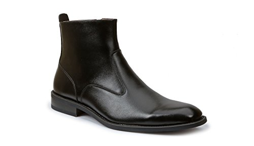 Giorgio Brutini Fielding Plain Toe 6 in.Boot-Inside Zipper BLK 10.5 M & Shoe Rag Mens Giorgio Brutini Plain Toe