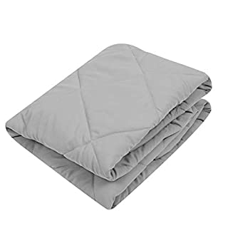 TILLYOU Cloudy Soft Pack and Play Sheet Quilted, Breathable Thick Play Yard Playpen Sheets, 39''×27''×5'' Fit Mini/Portable Crib Mattress Pad Pack N Play Mattress Pad, Charcoal Gray