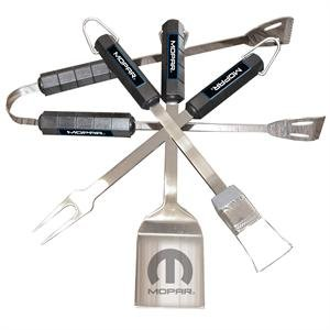 Mopar 4 Piece BBQ Utensil Set Capital Cooking Stainless Steel Grill