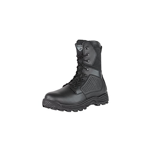 CONDOR Men's Murphy Zip 9'' Tactical Waterproof Boots, Black Leather, Nylon Fabric, 13 E (Leather Boot Professional Tactical Waterproof)