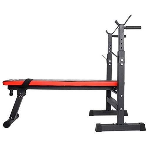 Aleseae Schwere Gymnastik Schulter Brustpresse Sit Up Gewichte Bench Barbell Fitness Ganzkörper-Trainingsgeräte (schwarz)