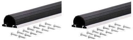 Black Universal Aluminum /& Rubber Garage Door Bottom M-d Products 87668 18 ft