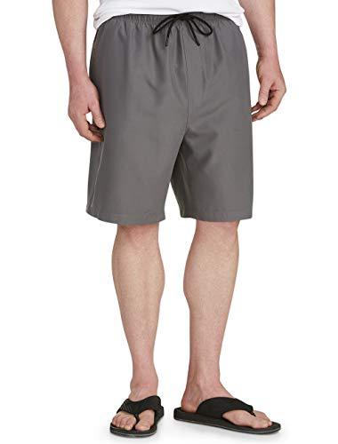 Amazon Essentials Men's Big & Tall Quick-Dry Swim Trunk fit by DXL, Charcoal, - Trunks Nylon Swim