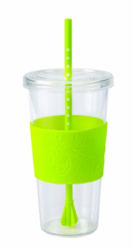 Copco 2510-0177 Sierra Single Wall Tritan Cold Tumbler with Removable Straw and Spill Resistant Lid, 24-Ounce, Lime Green