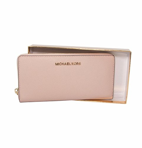 Michael Kors Ballet Saffiano Leather Boxed Zip Around Continental Travel - Kors Pink Michael
