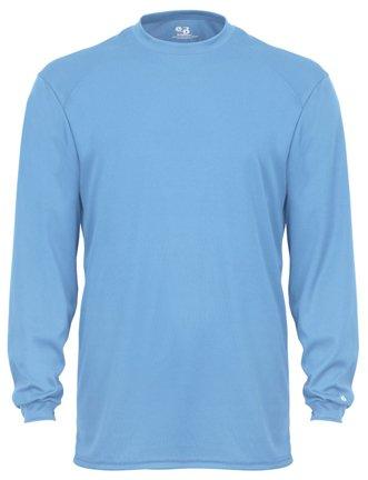 - Badger Sport B-Core Long Sleeve T-Shirt - 4104 - Columbia Blue - Medium