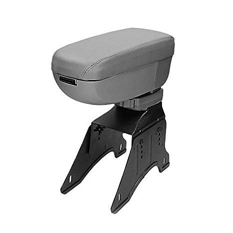 ECD-Germany Universal Grey Leatherette Armrest Centre Console + Mounting Kit ECD Germany