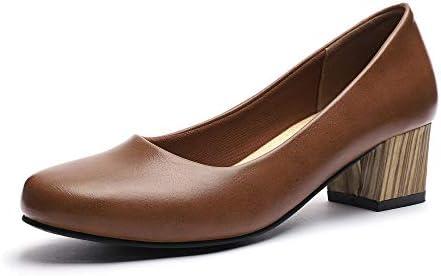Gucheng Chunky Heels Pumps Low Shoes Women S Dress Ladies Heel