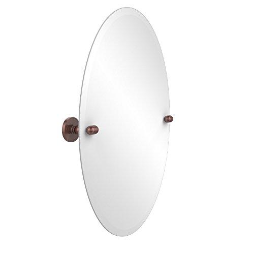 - Allied Brass TA-91-CA Frameless Oval Tilt Mirror with Beveled Edge, Antique Copper