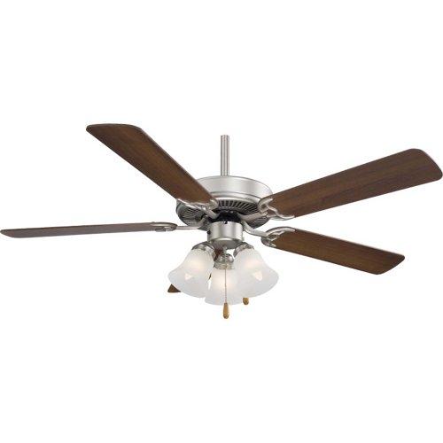 (Minka Aire F647-BS One Light Brushed Steel Ceiling Fan)