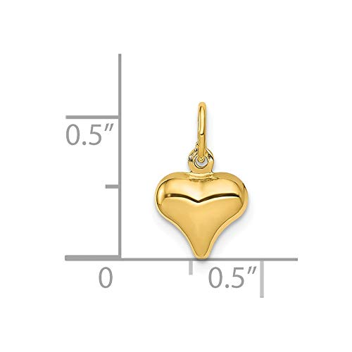 14k Yellow Gold Mini Puffed Heart Pendant