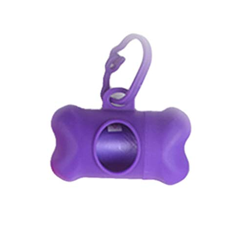 Ktyssp New Pet Portable Shape Pill Dispenser Dog Poop Box Garbage Bag Holder Case Tools (Purple) (Wet Dog Food Dispenser)