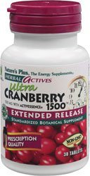 Nature's Plus, Herbal Actives, Ultra Cranberry 1500, 1500 mg, 30 (Cranberry 30 Tabs)