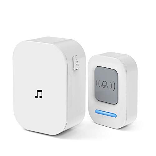 Wireless Doorbell, Doorbell Wireless Doorbells for Home, Door Bell Operating at 1000 Feet with 60 Melodies, 5 Volume Levels & LED Flash, Door Bells & Chimes Wireless for Classroom, Bedroom, Office