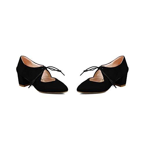 GMBDB013283 Chaussures Correct Talon Légeres Femme AgooLar Dépolissement Noir Unie Couleur à 0wOPnpqnz