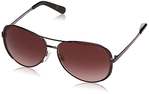 Metal Logo Aviator Sunglasses - Michael Kors Women's Chelsea Plum/Burgundy Gradient One Size
