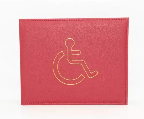 Disabled Blue Badge Holder Hologram Safe Parking Permit Display Cover Wallet Red