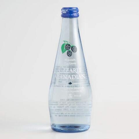 Clearly Canadian Mountain Blackberry Sparkling Water - 11 oz bottles (Pack of 12) by Clearly Canadian