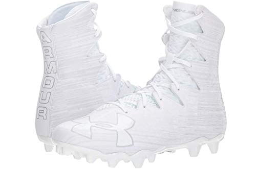 Under Armour UA Highlight MC 1297358-100 Men's White Lacrosse Cleats 9 US