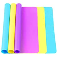 TDHDIKE 3 Pack Large Silicone Sheets for Crafts, Liquid, Resin Jewelry Casting Molds Mat, Multi-Purpose Food Grade…