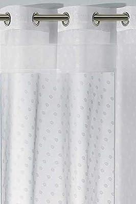 240/x 110/cm Les Ateliers du Linge/ /Cortina con Repujado Floral Blanco