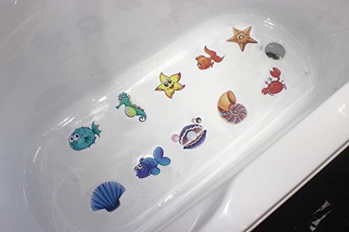 MIA GENOVIA Bath Tub Stickers Non Slip Adhesive Bathtub Decals Anti Slip Kids Shower Safety Sea Animals Decal Bathroom Accessories Sets (Pack of 10, Kids Friendly) by MIA GENOVIA (Image #6)