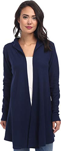 Allen Allen Women's Hooded Open Cardigan Lapis Sweater XS (Women's 2)