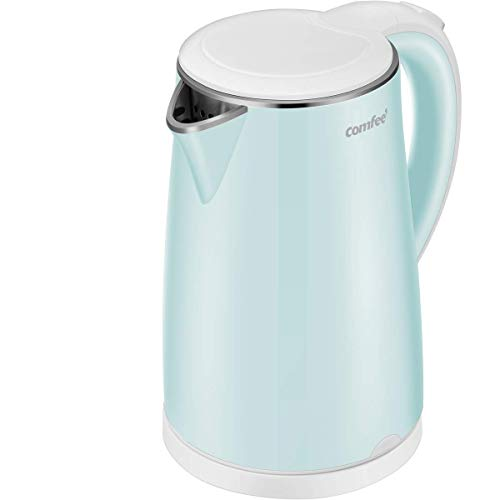 COMFEE' MK-HJ1705a1G Electric Kettle Teapot 1.7 Liter Fast Water Heater Boiler 1500W BPA-Free, Quiet Boil & Cool Touch Series, Auto Shut-Off and Boil Dry Protection, 1.7L