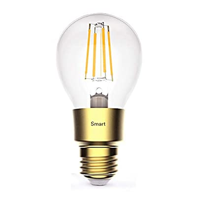 Lumary Smart A19 WiFi LED Bulb in Glass Vintage Edison Style, 60W Equivalent, Dimmable, 2700K, 800lm, E26 Base, Compatible with Alexa, Google Assistant and IFTTT(No Hub Required)