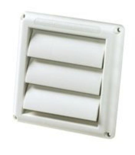 Deflect-O HS4W/18 Supurr-vent Replacement Vent Hood, White, (Dryer Vent Cover 6 Inch)