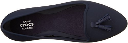 Crocs Womens Eve Embellished Ballet Flat Navy