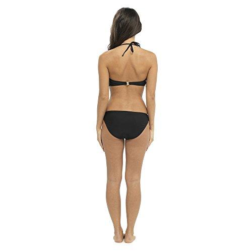 Ladies flecos Bikini negro