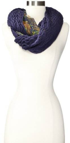 Collection XIIX Women's Peacock Print with Knit Overlay I...